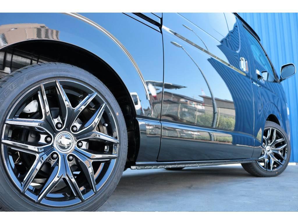 2インチローダウン、フレックスDelf01ホイール☆ | トヨタ ハイエースバン 2.8 スーパーGL ダークプライムⅡ ロングボディ ディーゼルターボ 特別仕様ダークプライム2ディーゼルターボ
