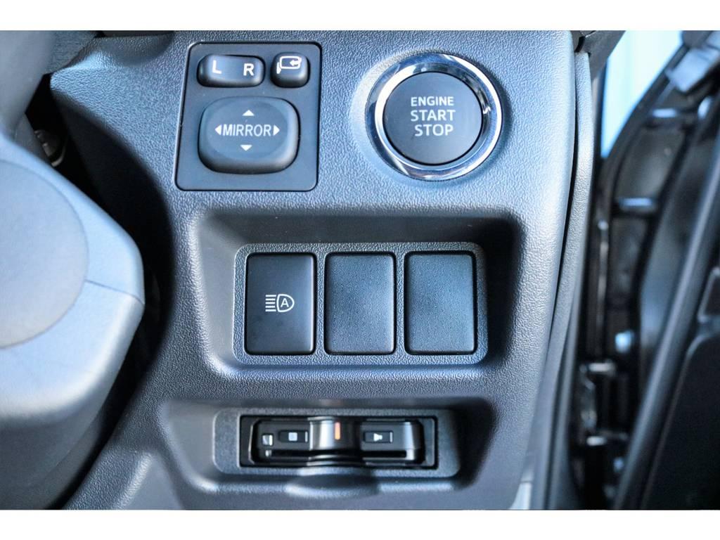 スマートキー&プッシュスタートボタン、オートハイビーム、ETC搭載☆ | トヨタ ハイエースバン 2.8 スーパーGL ダークプライムⅡ ロングボディ ディーゼルターボ 特別仕様ダークプライム2ディーゼルターボ