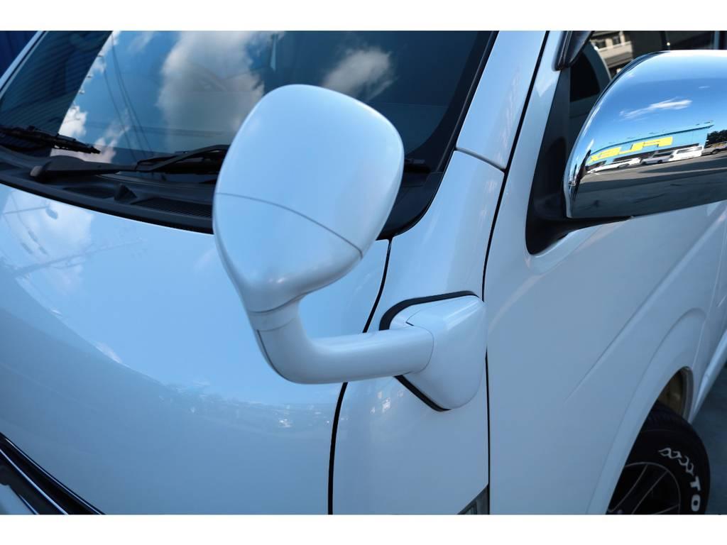 フロントアンダーミラー、ボディ同色塗装済み☆ | トヨタ レジアスエース 2.0 スーパーGL ロングボディ 乗り心地向上リーフ交換車両