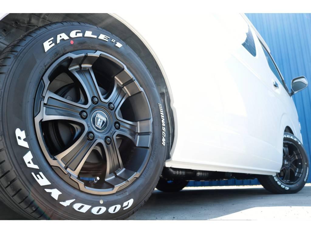 フレックスオリジナルW-DEEPSホイール☆ | トヨタ ハイエース 2.7 GL ロング ミドルルーフ TSS付フレックスオリジナルアレンジAS