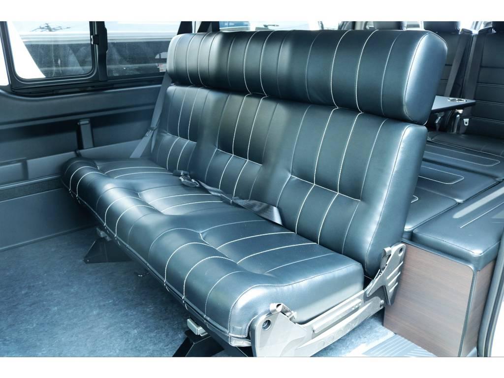 セカンドシート、3人掛け仕様☆アレンジA-S!! | トヨタ ハイエース 2.7 GL ロング ミドルルーフ TSS付フレックスオリジナルアレンジAS