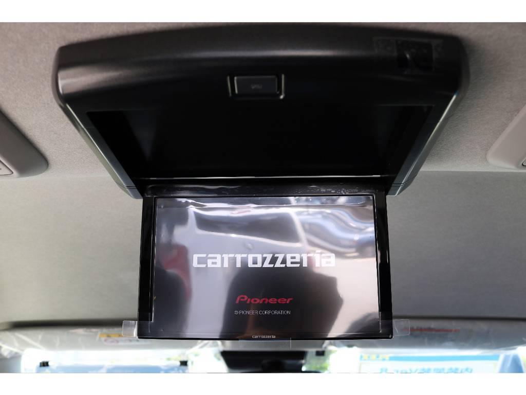 カロッツェリアナビ、ETC、バックカメラナビ連動加工☆フリップダウンモニターも搭載☆