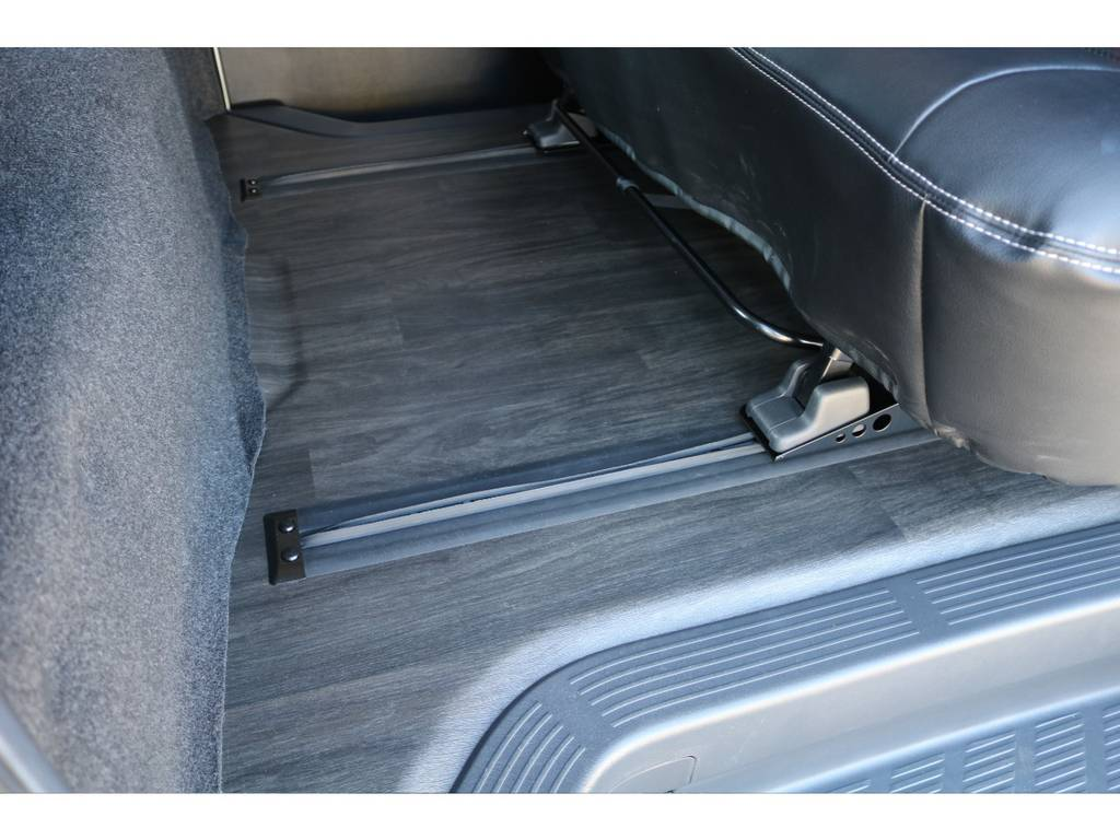 床貼り、スライドレール埋め込み架装☆