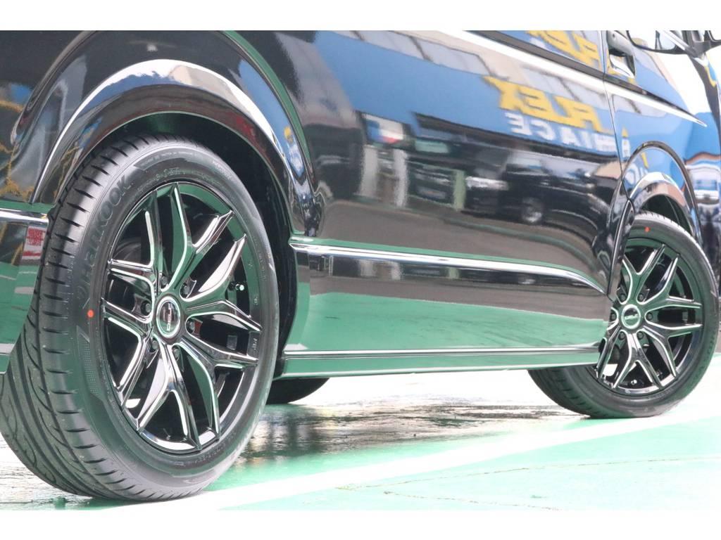 お好みのタイヤアルミに変更も承っております!   トヨタ ハイエースバン 2.0 DX ロング