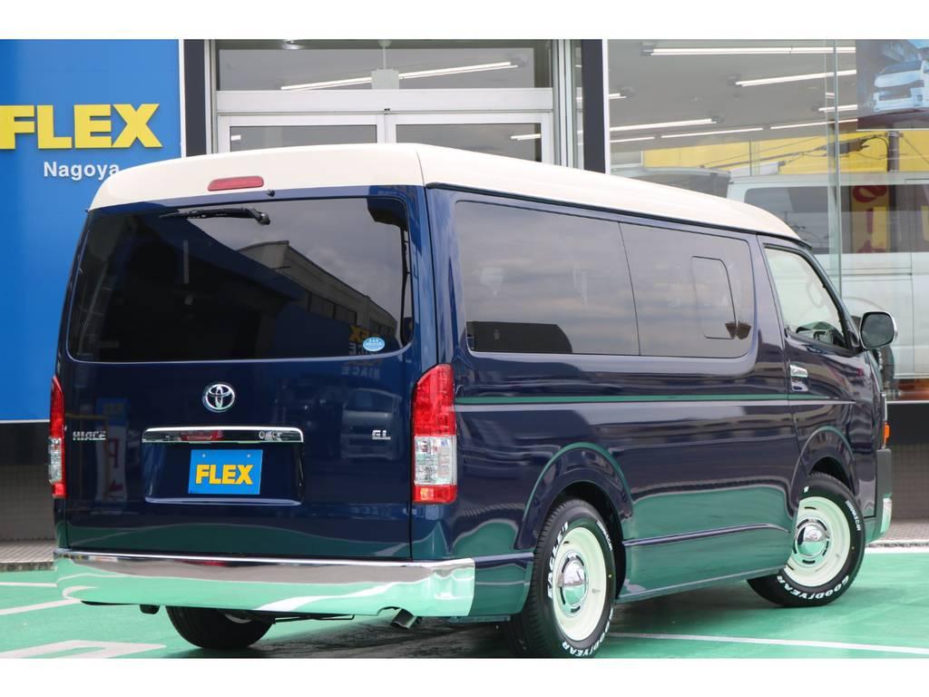リアメッキバンパー♪ | トヨタ ハイエース 2.7 GL ロング ミドルルーフ Renoca Coast line試乗車