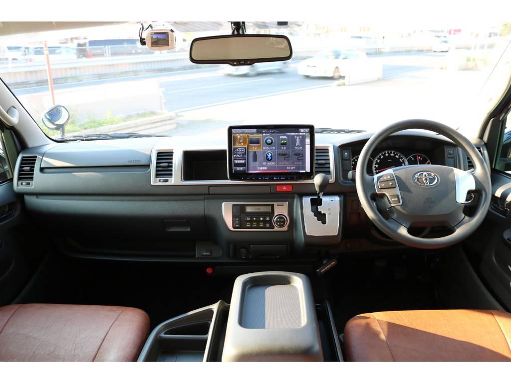 ワゴンGLコックピット♪ | トヨタ ハイエース 2.7 GL ロング ミドルルーフ Renoca Coast line試乗車
