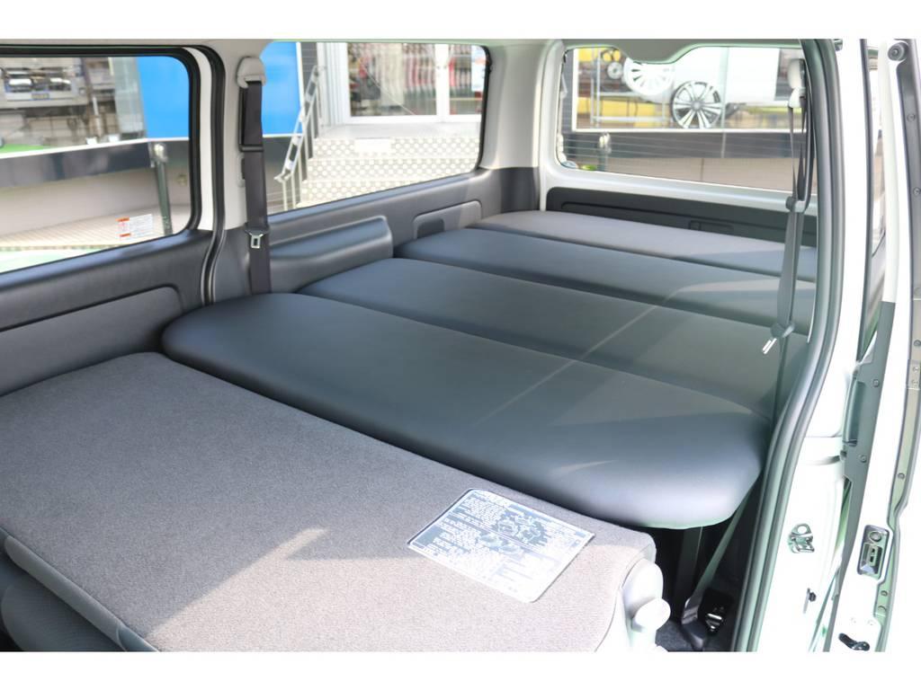 オリジナルベッドキット装備で、広大なベッドスペースも♪
