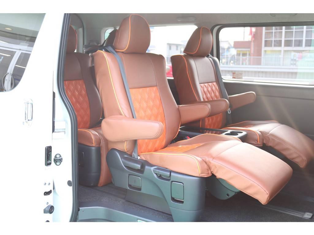 オットマン付きキャプテンシート4脚装備♪ | トヨタ ハイエース 2.7 GL ロング ミドルルーフ パーソナルワゴン