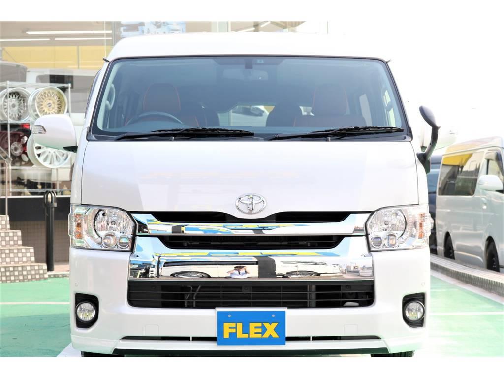 純正LEDヘッドライト装備♪フォグランプもLED化♪ | トヨタ ハイエース 2.7 GL ロング ミドルルーフ パーソナルワゴン