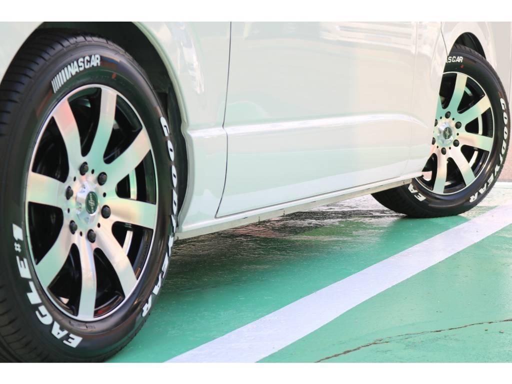 パンデミック17インチAW・ナスカータイヤ♪ | トヨタ ハイエース 2.7 GL ロング ミドルルーフ パーソナルワゴン