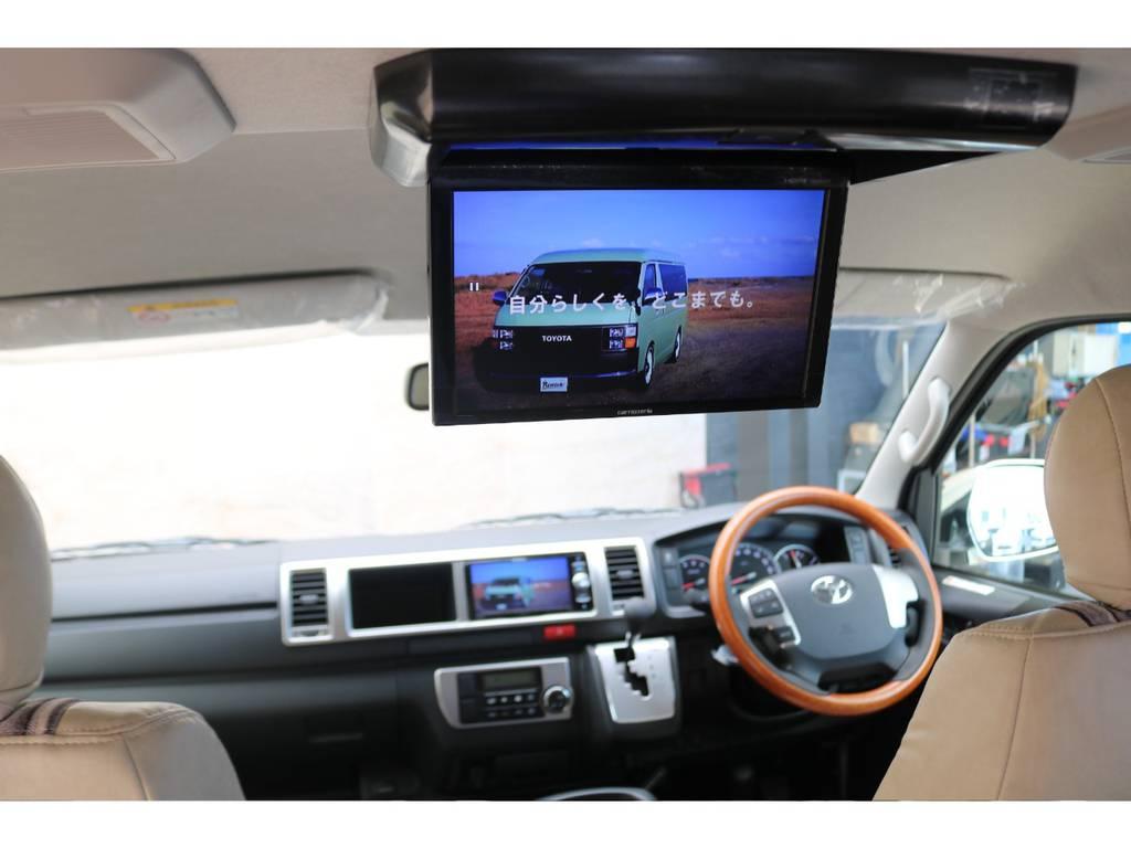 パイオニア製フリップダウンモニター♪   トヨタ ハイエースバン 2.8 スーパーGL ワイド ロング ミドルルーフ ディーゼルターボ Renoca試乗車