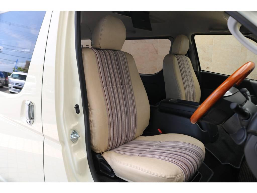 全席Renocaシートカバー♪ | トヨタ ハイエースバン 2.8 スーパーGL ワイド ロング ミドルルーフ ディーゼルターボ Renoca試乗車