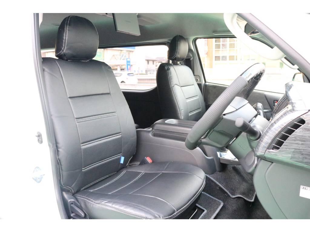 全席シートカバー装備♪   トヨタ ハイエース 2.7 GL ロング ミドルルーフ 4WD TSS寒冷地付アレンジAS