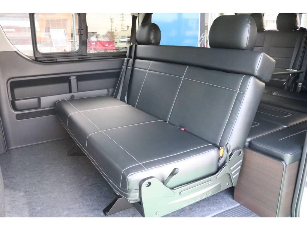 2列目は3人掛けシート♪   トヨタ ハイエース 2.7 GL ロング ミドルルーフ 4WD TSS寒冷地付アレンジAS
