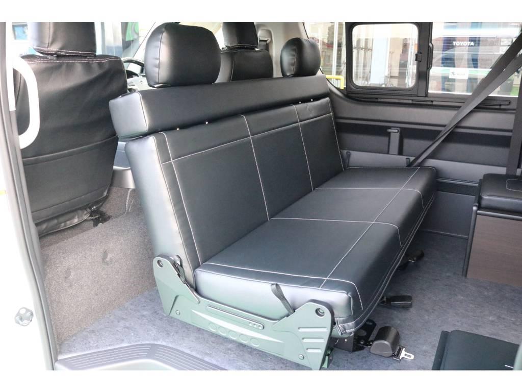 2列目は対面シートに変更可能♪   トヨタ ハイエース 2.7 GL ロング ミドルルーフ 4WD TSS寒冷地付アレンジAS