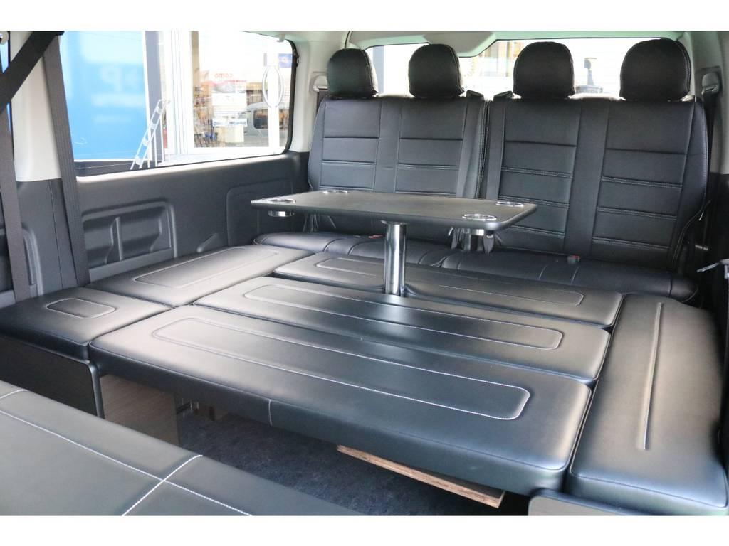 3列目以降はベッドキッド&テーブル付き♪   トヨタ ハイエース 2.7 GL ロング ミドルルーフ 4WD TSS寒冷地付アレンジAS