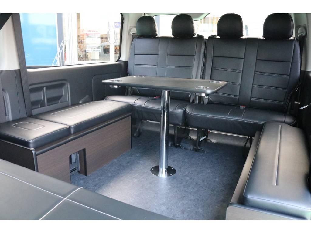 テーブルは脱着可能♪   トヨタ ハイエース 2.7 GL ロング ミドルルーフ 4WD TSS寒冷地付アレンジAS