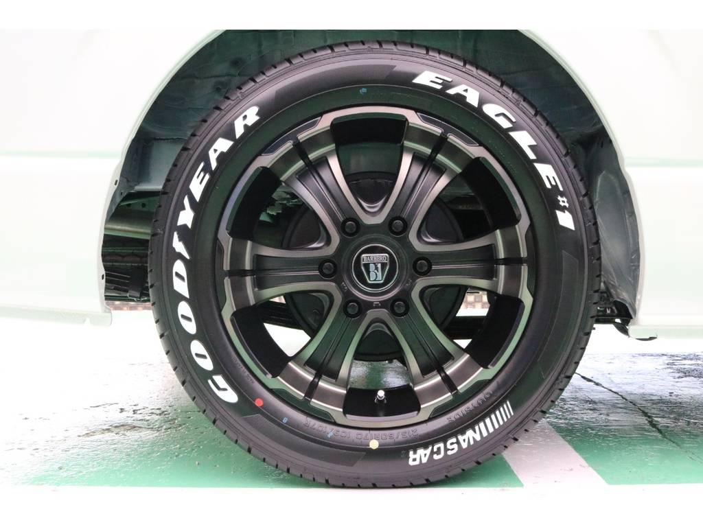 FLEXバルベロディープス17インチAW&グッドイヤーナスカータイヤ♪   トヨタ ハイエース 2.7 GL ロング ミドルルーフ 4WD TSS寒冷地付アレンジAS