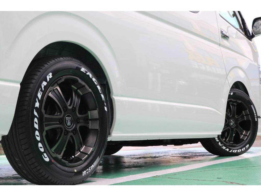 車検対応のタイヤ・ホイールセット♪   トヨタ ハイエース 2.7 GL ロング ミドルルーフ 4WD TSS寒冷地付アレンジAS