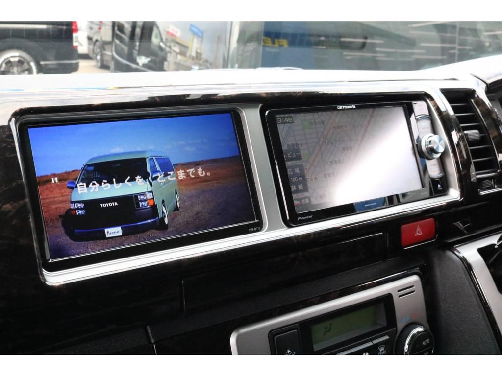 パイオニア製SDナビ・サブモニター♪ | トヨタ ハイエース 2.7 GL ロング ミドルルーフ 4WD TSS寒冷地付アレンジR1