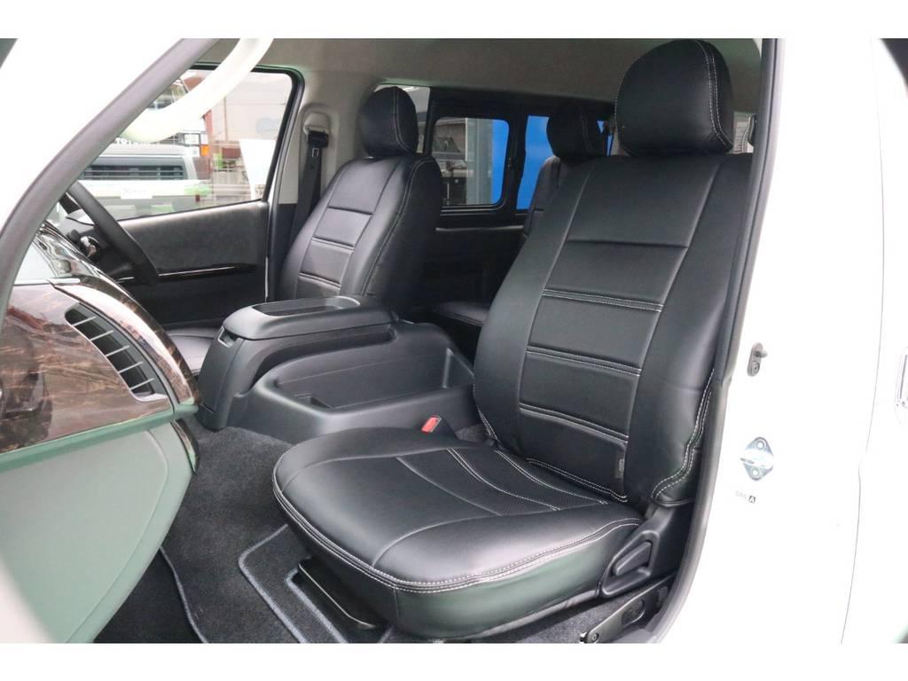 全席シートカバー装備♪ | トヨタ ハイエース 2.7 GL ロング ミドルルーフ 4WD TSS寒冷地付アレンジR1