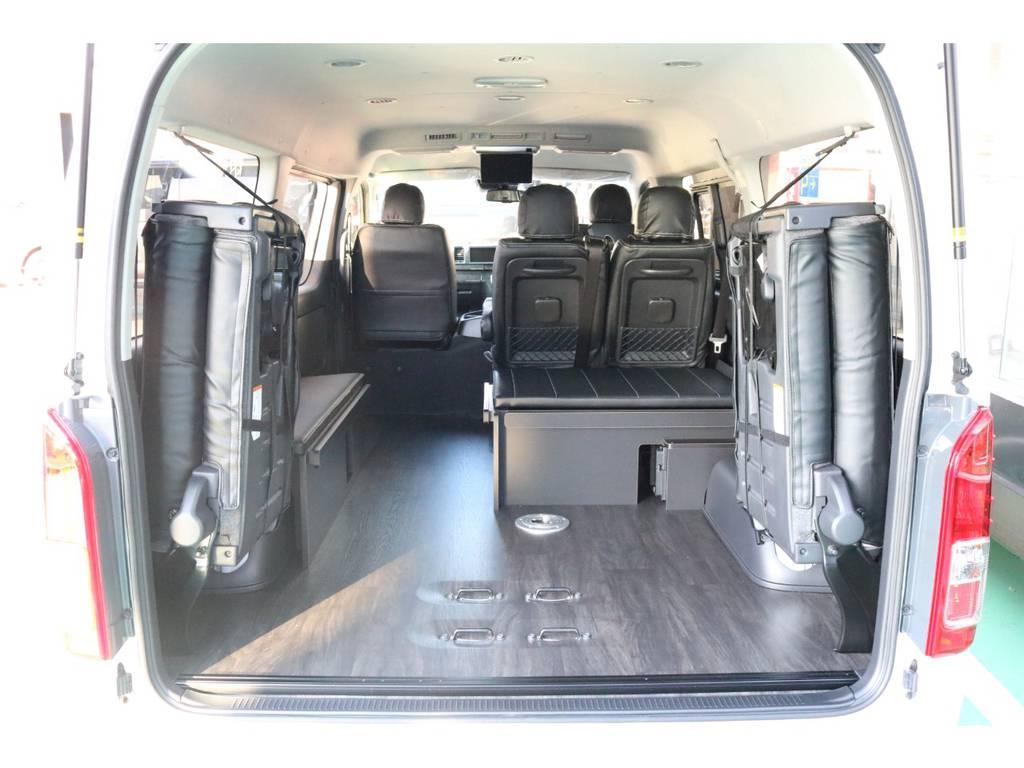 大容量の荷室も確保できます♪ | トヨタ ハイエース 2.7 GL ロング ミドルルーフ 4WD TSS寒冷地付アレンジR1