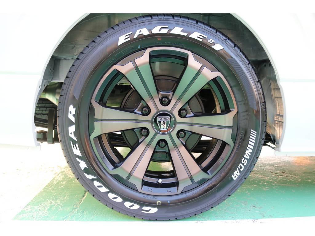 FLEXバルベログランデ17インチAW・グッドイヤーナスカータイヤ♪ | トヨタ ハイエース 2.7 GL ロング ミドルルーフ 4WD TSS寒冷地付アレンジR1