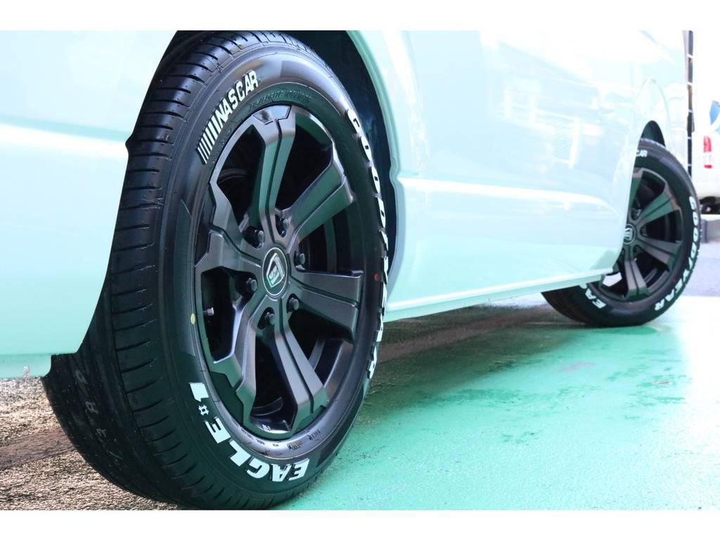 車検対応のタイヤ・ホイールセット♪ | トヨタ ハイエース 2.7 GL ロング ミドルルーフ 4WD TSS寒冷地付アレンジR1
