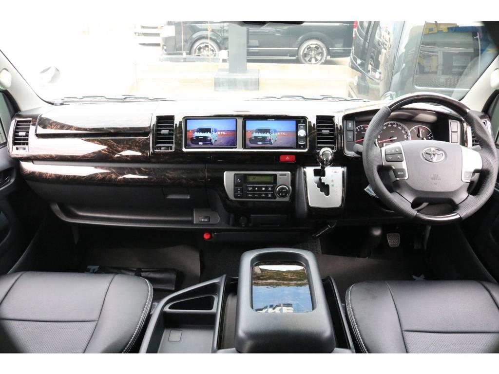 マホガニーインテリアパネルセット♪ | トヨタ ハイエース 2.7 GL ロング ミドルルーフ 4WD TSS寒冷地付アレンジR1