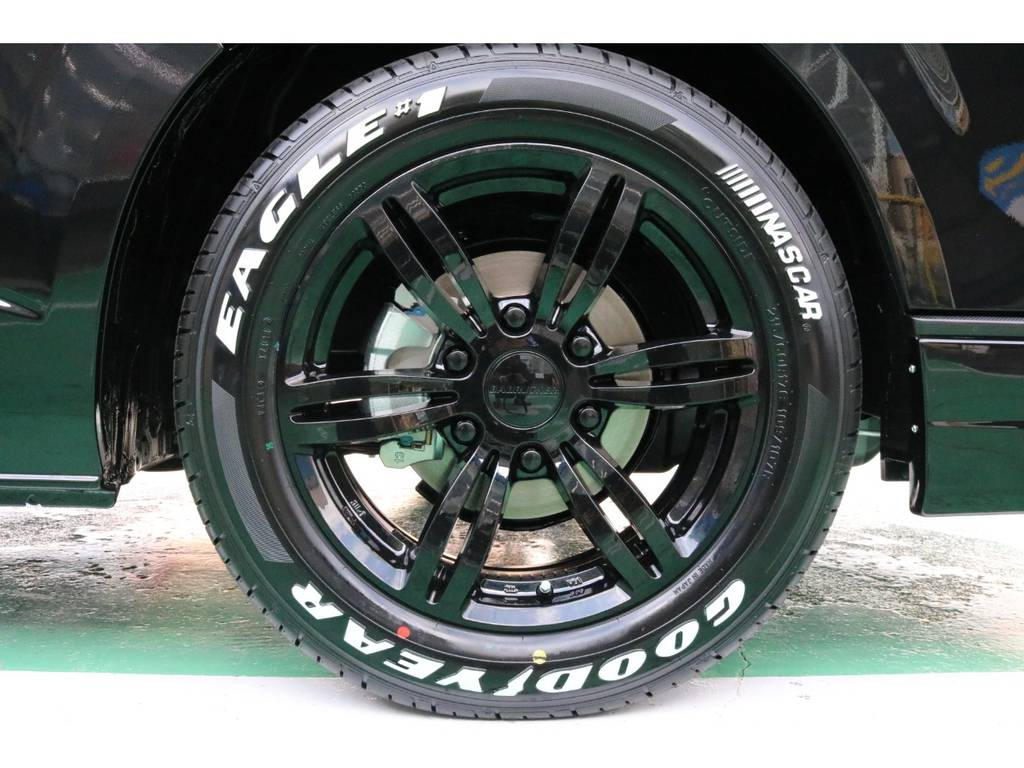 415コブラバッドラッカー17インチAW&グッドイヤーナスカータイヤ♪ | トヨタ ハイエースバン 2.8 スーパーGL ダークプライムⅡ ロングボディ ディーゼルターボ PS無