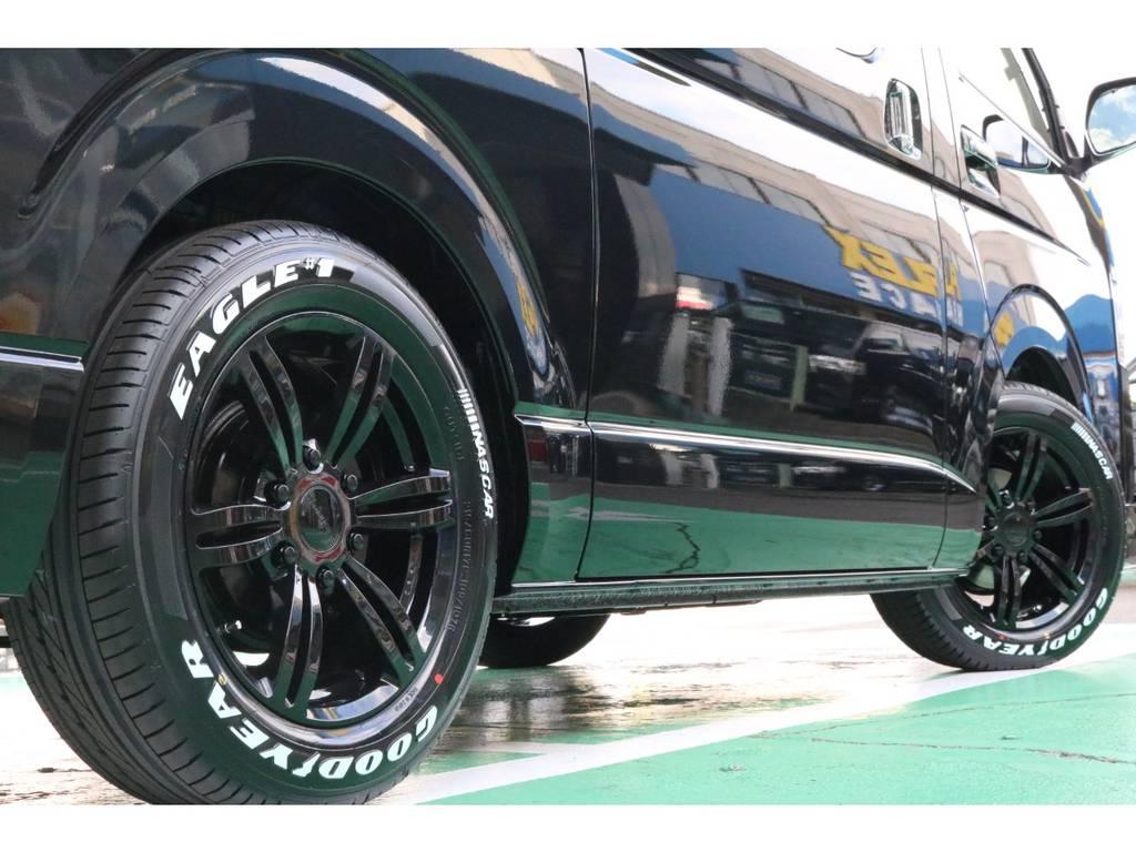 車検対応のタイヤ・ホイールセット♪ | トヨタ ハイエースバン 2.8 スーパーGL ダークプライムⅡ ロングボディ ディーゼルターボ PS無