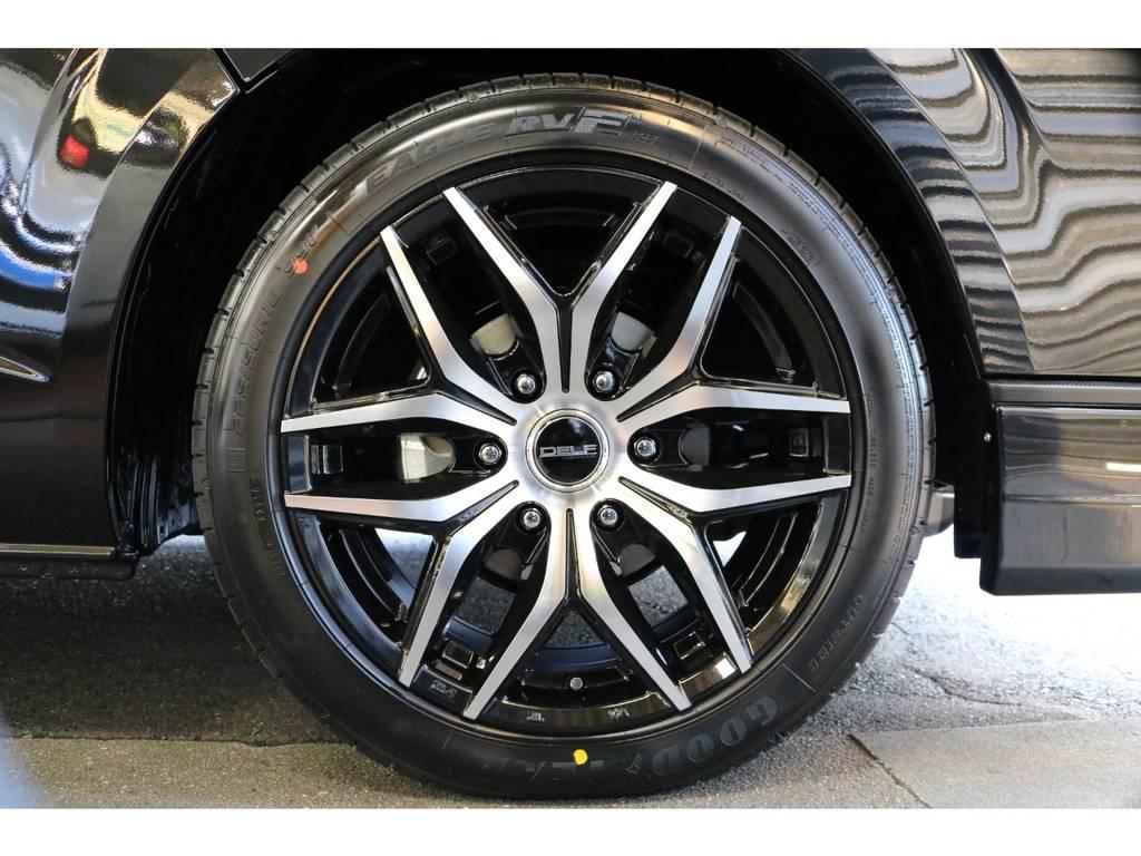 Delf01 ブラックポリッシュ 18インチをセレクト!   トヨタ ハイエースバン 2.8 スーパーGL 50TH アニバーサリー リミテッド ロングボディ ディーゼルターボ 50TH