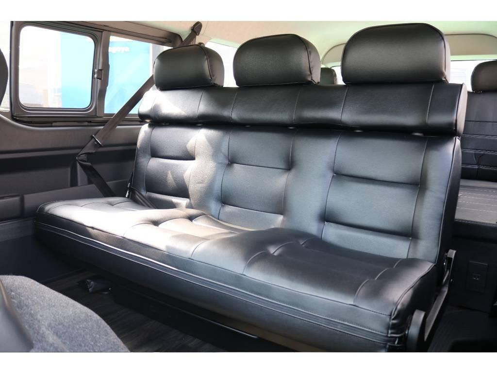 座り心地も良くリクライニングも自由自在♪ | トヨタ ハイエース 2.7 GL ロング ミドルルーフ TSS付