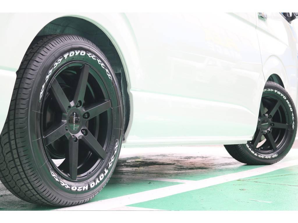 TOYO H20タイヤとの相性もピッタリです! | トヨタ ハイエース 2.7 GL ロング ミドルルーフ TSS付