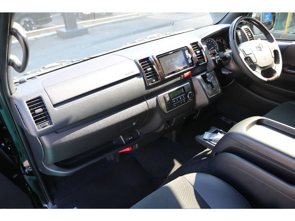 助手席エアバック・AC100Vコンセントも完備♪ | トヨタ ハイエースバン 2.8 スーパーGL ダークプライムⅡ ロングボディ ディーゼルターボ PS無