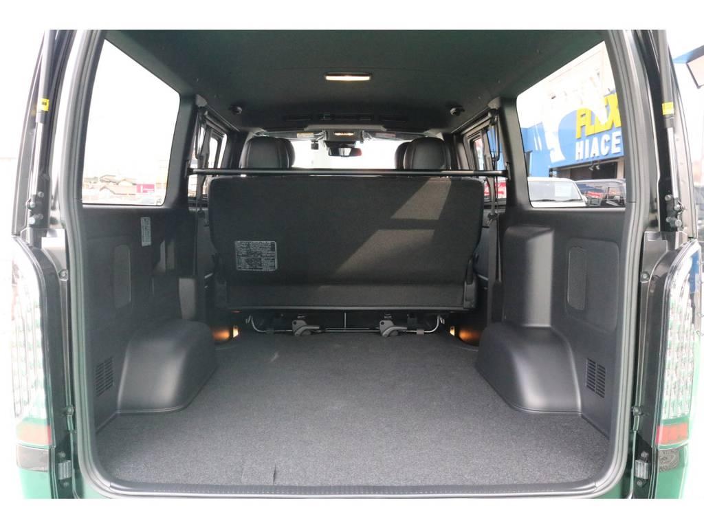 ハイエースならではの広々とした荷室!ベットキットの追加も承ります♪ | トヨタ ハイエースバン 2.8 スーパーGL ダークプライムⅡ ロングボディ ディーゼルターボ PS無