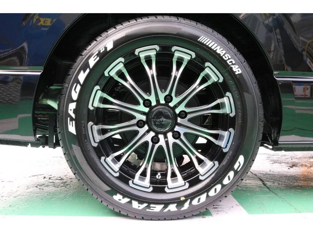 ホイールはバトルシップ1をセレクト! タイヤは鉄板のナスカーイーグル♪ | トヨタ ハイエースバン 2.8 スーパーGL ダークプライムⅡ ロングボディ ディーゼルターボ PS無