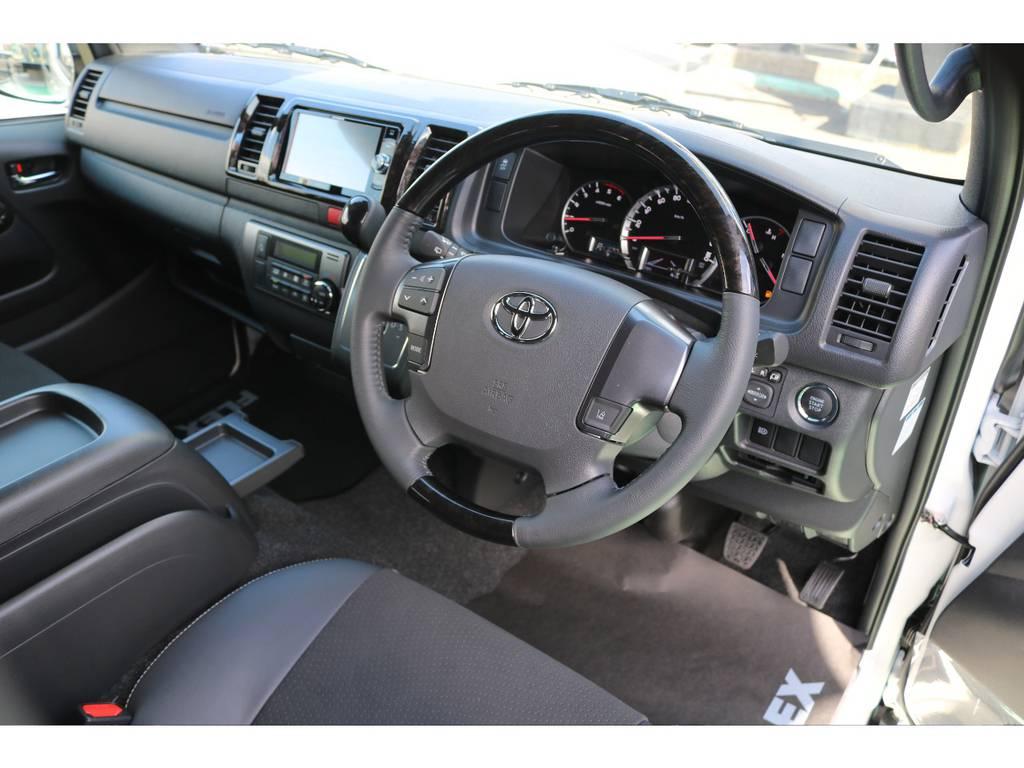 ダークプライムⅡの証 黒木目内装! | トヨタ ハイエースバン 2.8 スーパーGL ダークプライムⅡ ロングボディ ディーゼルターボ 4WD S無