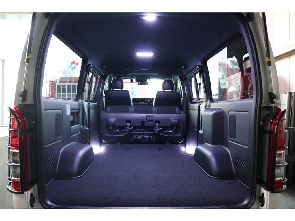 あると嬉しい室内灯LEDを最初からお付けしました!! | トヨタ ハイエースバン 2.8 スーパーGL ダークプライムⅡ ロングボディ ディーゼルターボ 4WD S無