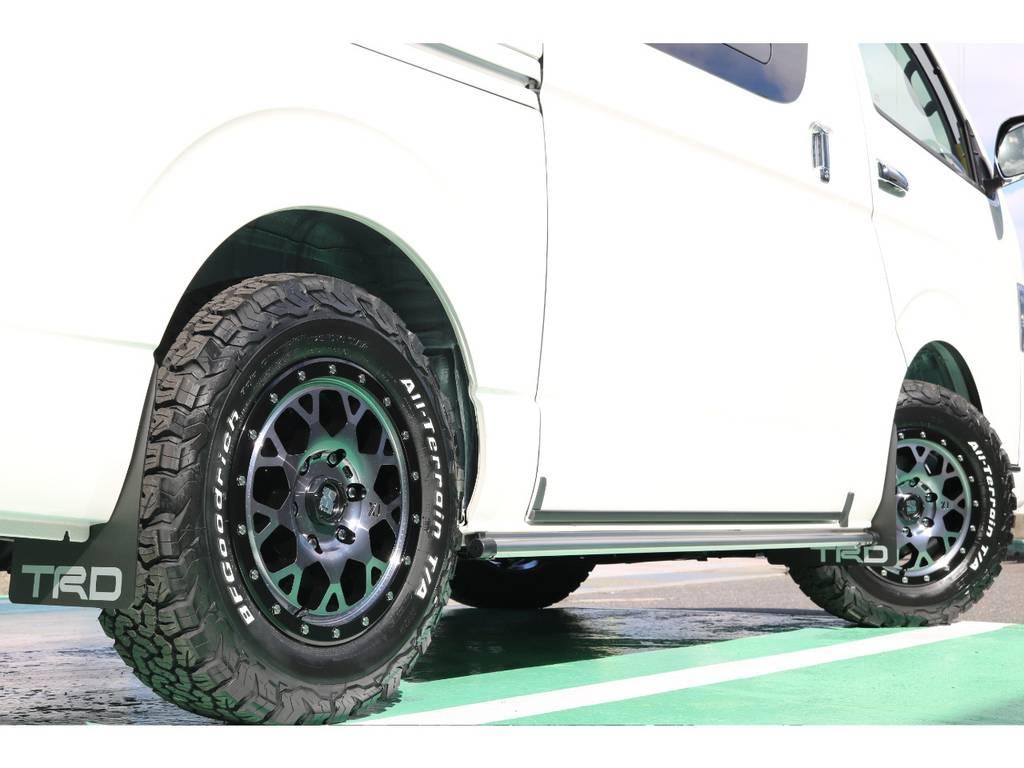 タイヤは四駆の定番 グットリッジをセレクト!マッチしてます! | トヨタ ハイエースバン 2.8 スーパーGL ダークプライムⅡ ロングボディ ディーゼルターボ 4WD S無