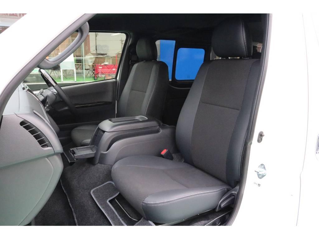 全席ハーフレザーシート♪ | トヨタ ハイエースバン 2.8 スーパーGL ダークプライムⅡ ロングボディ ディーゼルターボ 4WD PS無