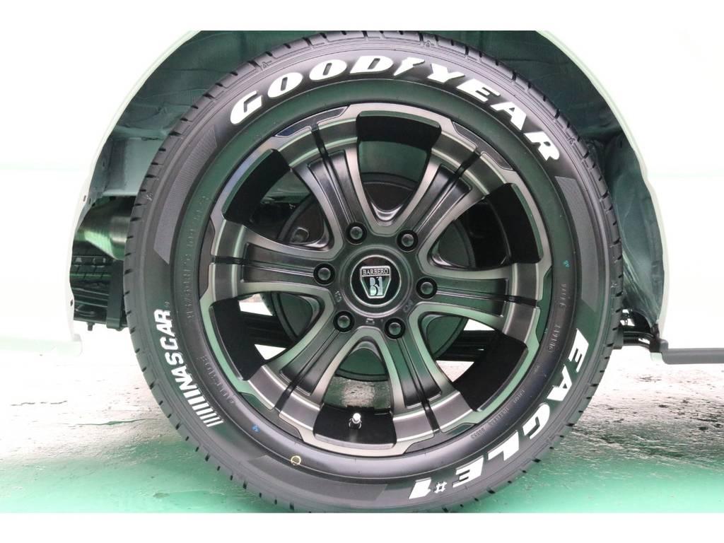 FLEXバルベロディープス17インチAW&グッドイヤーナスカータイヤ♪ | トヨタ ハイエースバン 2.8 スーパーGL ダークプライムⅡ ロングボディ ディーゼルターボ 4WD PS無