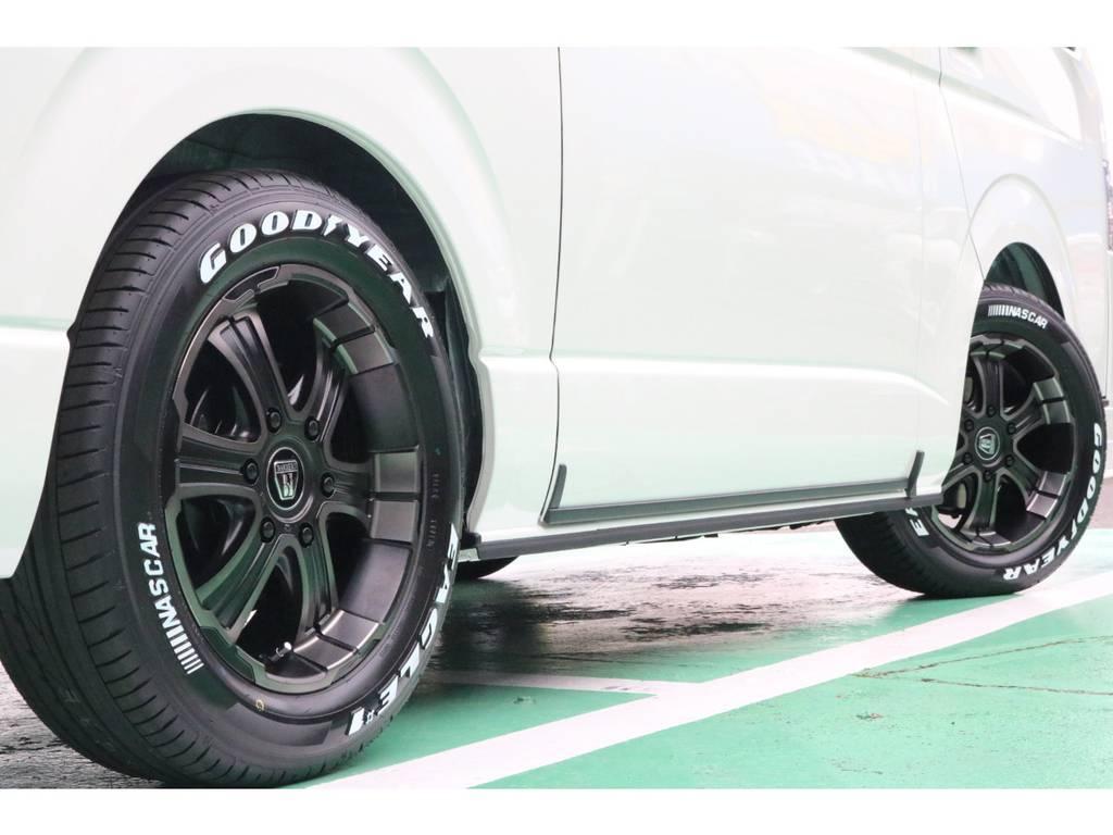 車検対応のタイヤ・ホイールセット♪ | トヨタ ハイエースバン 2.8 スーパーGL ダークプライムⅡ ロングボディ ディーゼルターボ 4WD PS無