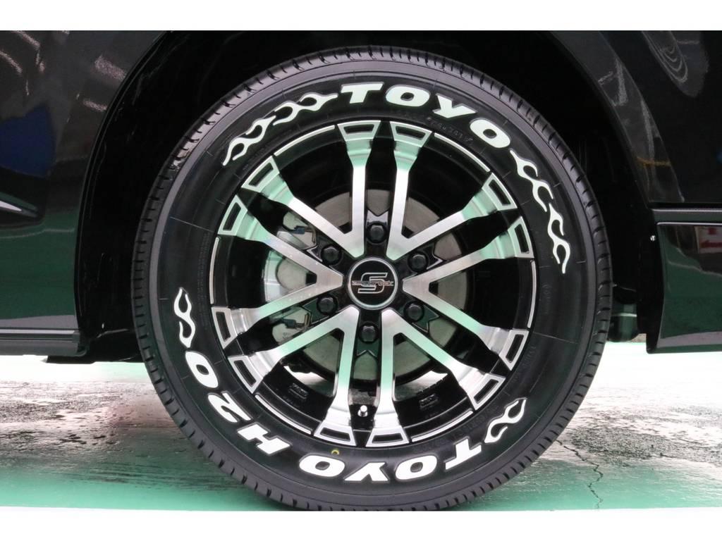 ゼロブレイクS16インチAW&TOYO H20タイヤ♪ | トヨタ ハイエースバン 2.8 スーパーGL 50TH アニバーサリー リミテッド ロングボディ ディーゼルターボ 4WD 50TH