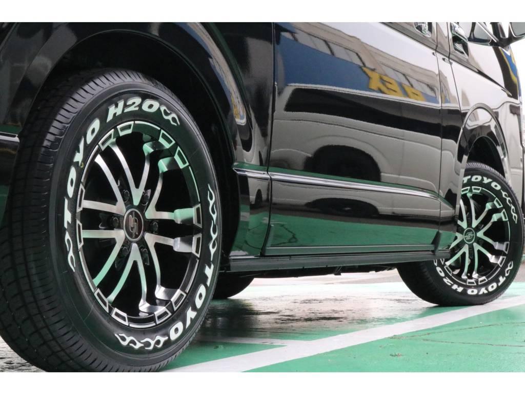 車検対応のタイヤ・ホイールセット♪ | トヨタ ハイエースバン 2.8 スーパーGL 50TH アニバーサリー リミテッド ロングボディ ディーゼルターボ 4WD 50TH