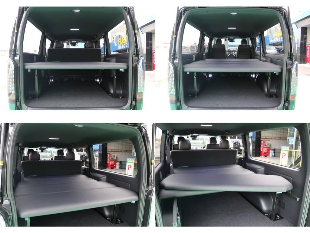 FLEXベットキットを装備!車中泊も快適に出来ます♪ | トヨタ ハイエースバン 2.8 スーパーGL 50TH アニバーサリー リミテッド ロングボディ ディーゼルターボ 4WD 50TH