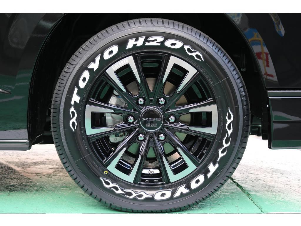 マッドクロスブレイカー16インチTOYOタイヤセット | トヨタ ハイエースバン 2.8 スーパーGL 50TH アニバーサリー リミテッド ロングボディ ディーゼルターボ 4WD 50TH