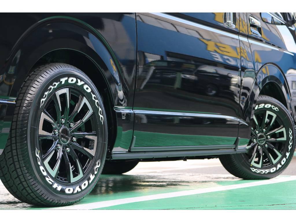 お好みのタイヤアルミに変更も承っております! | トヨタ ハイエースバン 2.8 スーパーGL 50TH アニバーサリー リミテッド ロングボディ ディーゼルターボ 4WD 50TH