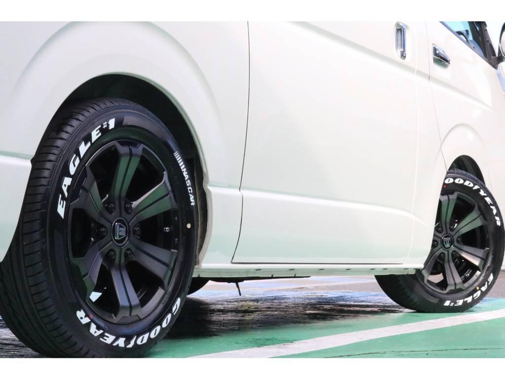タイヤ・ホイールの変更も承ります!お気軽にお問い合わせ下さいませ!   トヨタ ハイエースバン 3.0 スーパーGL ロング ディーゼルターボ スーパーGL ロングワイド