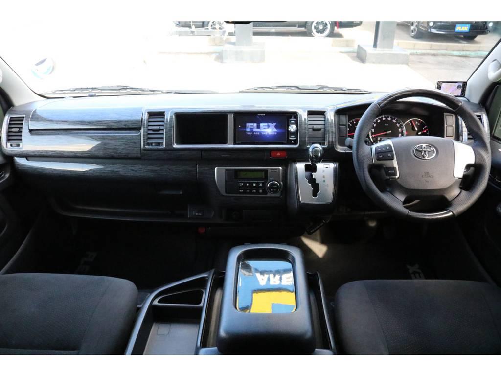運転席まわりも綺麗な状態で保たれていますよ♪   トヨタ ハイエースバン 3.0 スーパーGL ロング ディーゼルターボ スーパーGL ロングワイド